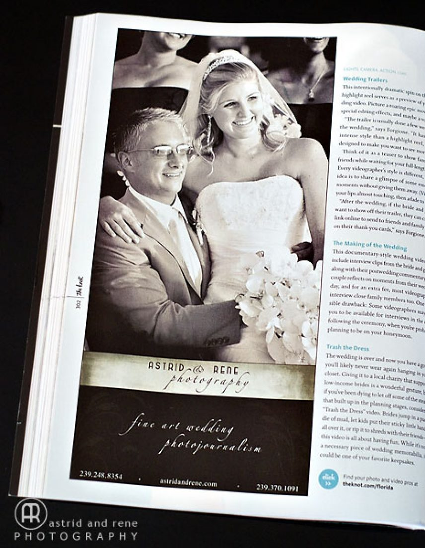 Our First Print Ad In The Knot